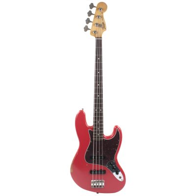Fender Road Worn '60s Jazz Bass Fiesta Red PF