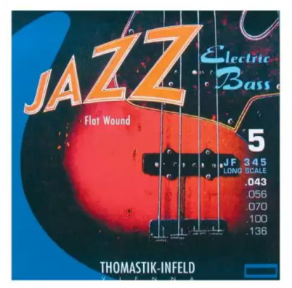 Thomastik-Infeld JF345 Jazz Flat Wound Long Scale 5-snarig
