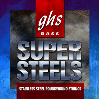 GHS 5ML-STB Bass Super Steels Medium Light snarenset 5-snarig