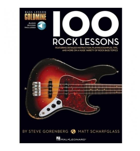 Hal Leonard – Bass Lesson Goldmine: 100 Rock Lessons