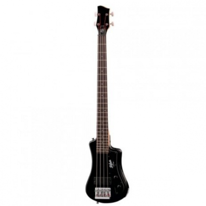 Hofner Shorty Bass Guitar CT Black elektrische reis-basgitaar